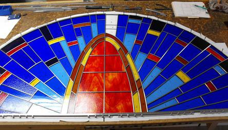Simple Church Window Ready For Installation